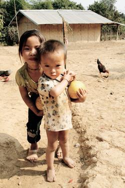 Brother and Sister. Vang Vieng, Laos