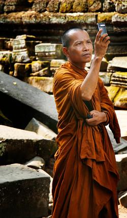 Buddhist Monk. Angkor Wat, Cambodia