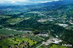 Aerial of inland Costa Rica