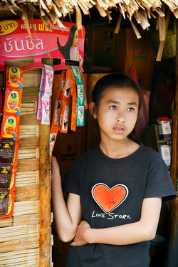 Love Story. Kuang Si, Laos