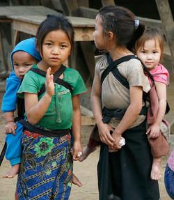 Children. Kuang Si, Laos