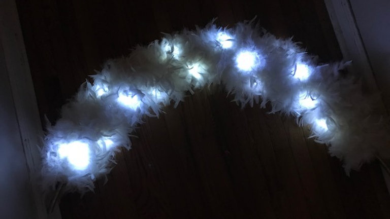 Light Up Feather Arch