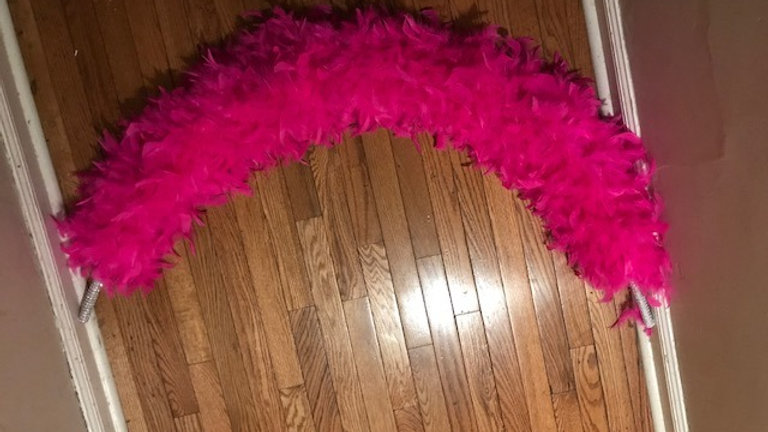 Hot Pink Feather Arch