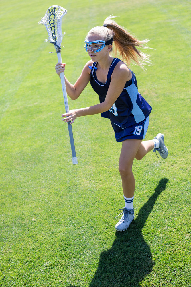 Lacrosse Player with Grit
