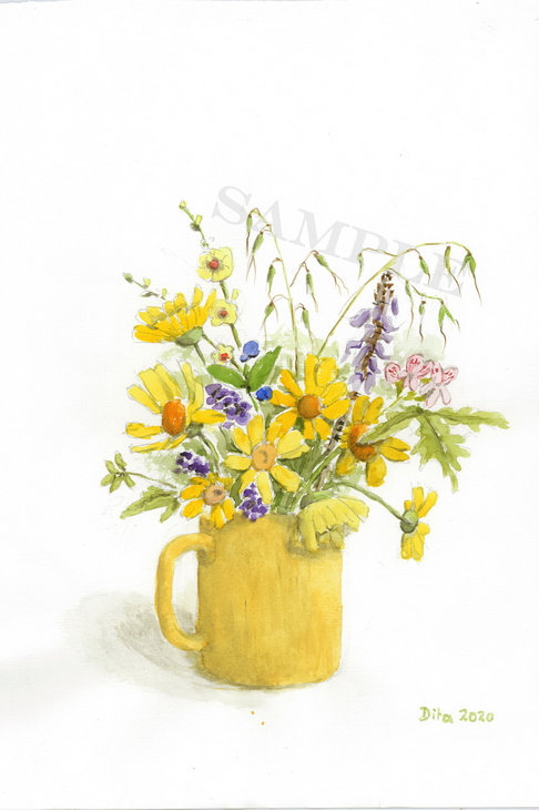 Flowers in Yellow Cup 2020