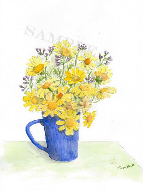 Chrysanthemum in Blue Cup 2020