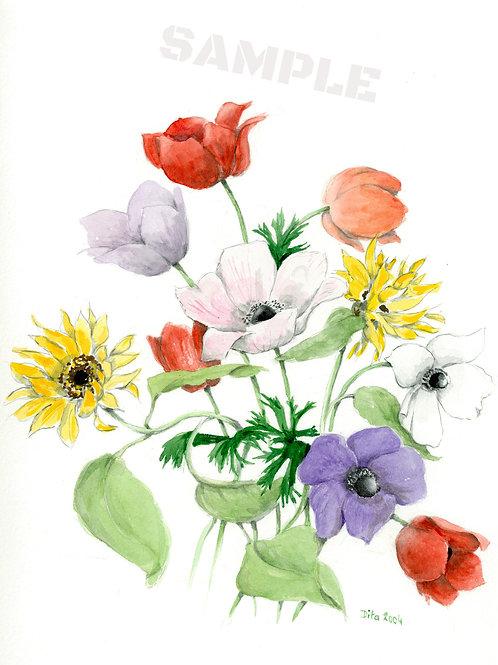 Anemones and Sunflowers 2004