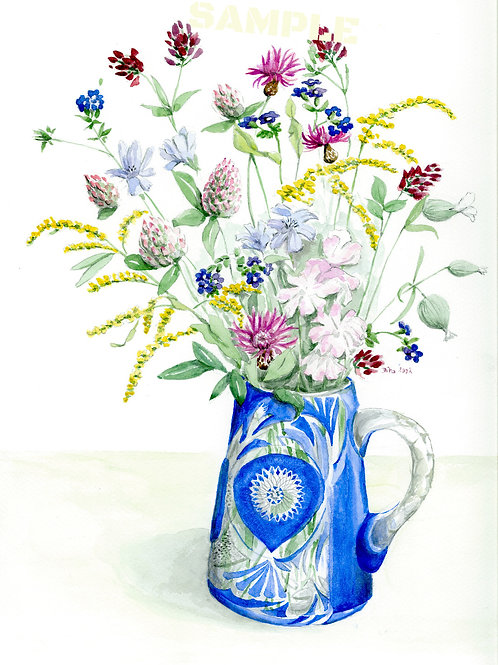 Flowers in a Blue Vase 2002
