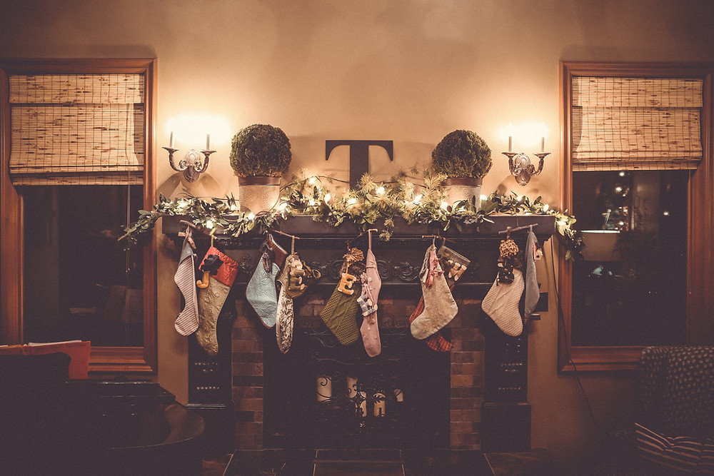 The stockings were hung by the chimney