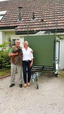 Echte mobile Jagdkanzel, Frankreich
