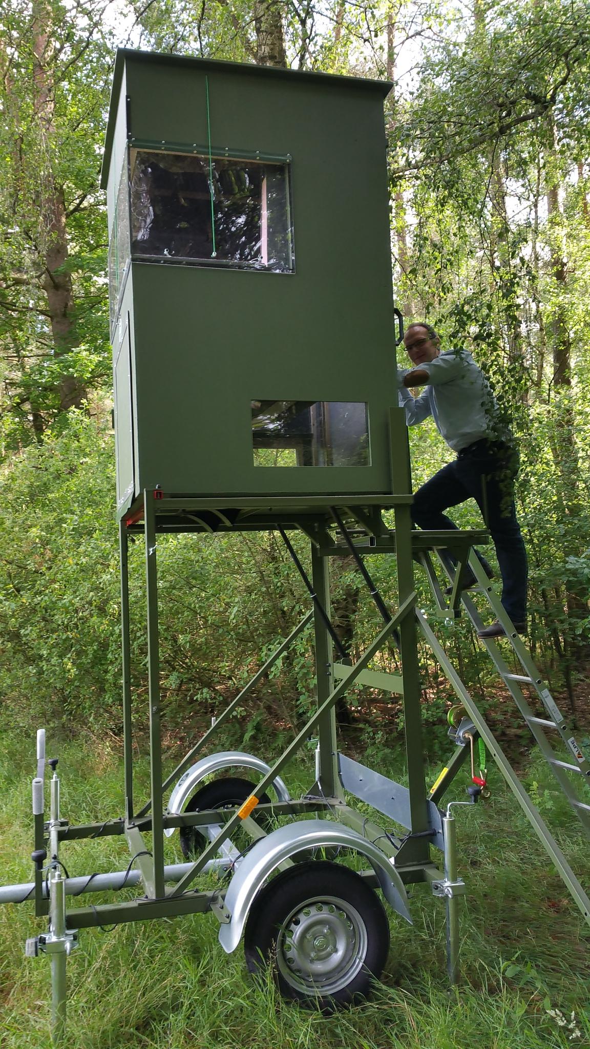Mobile Jagdkanzel KWF geprüft