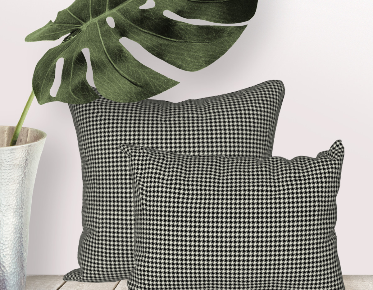 mini houdnstooth pillow covers starting at $27