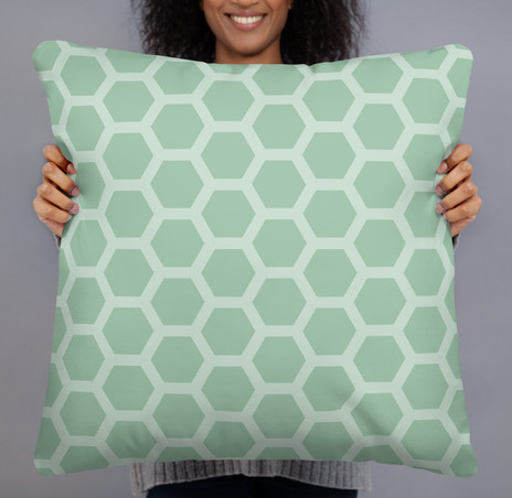 """22"""" square honeycomb pillow cover in cotton canvas $48"""