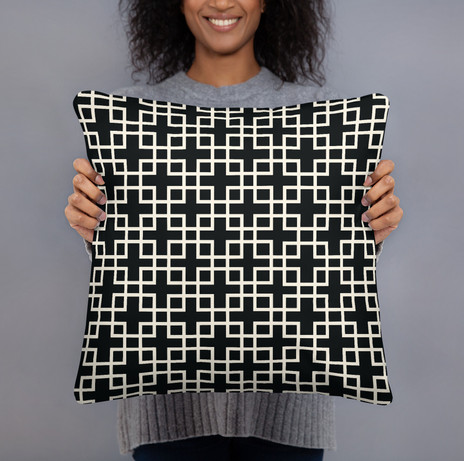 """18"""" breezeblock cotton canvas pillow $42"""