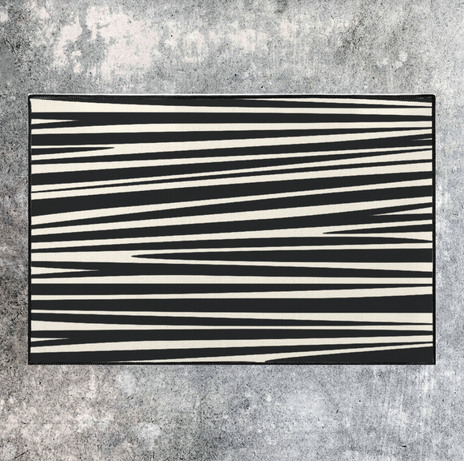 abstract zebra rug starting at $35