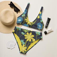 Navy Flower POWer Recycled Bikini