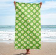 Daisy Beach Towel in Lime Zest