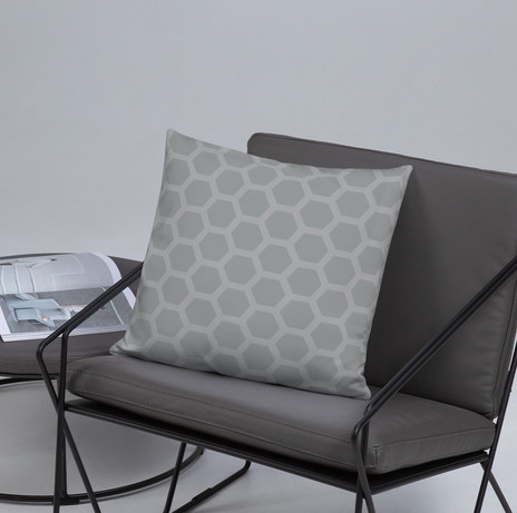 """18"""" ultimate gray honeycomb pillow cover $28"""