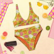 Orange & Pink Flower POWer Recycled Bikini