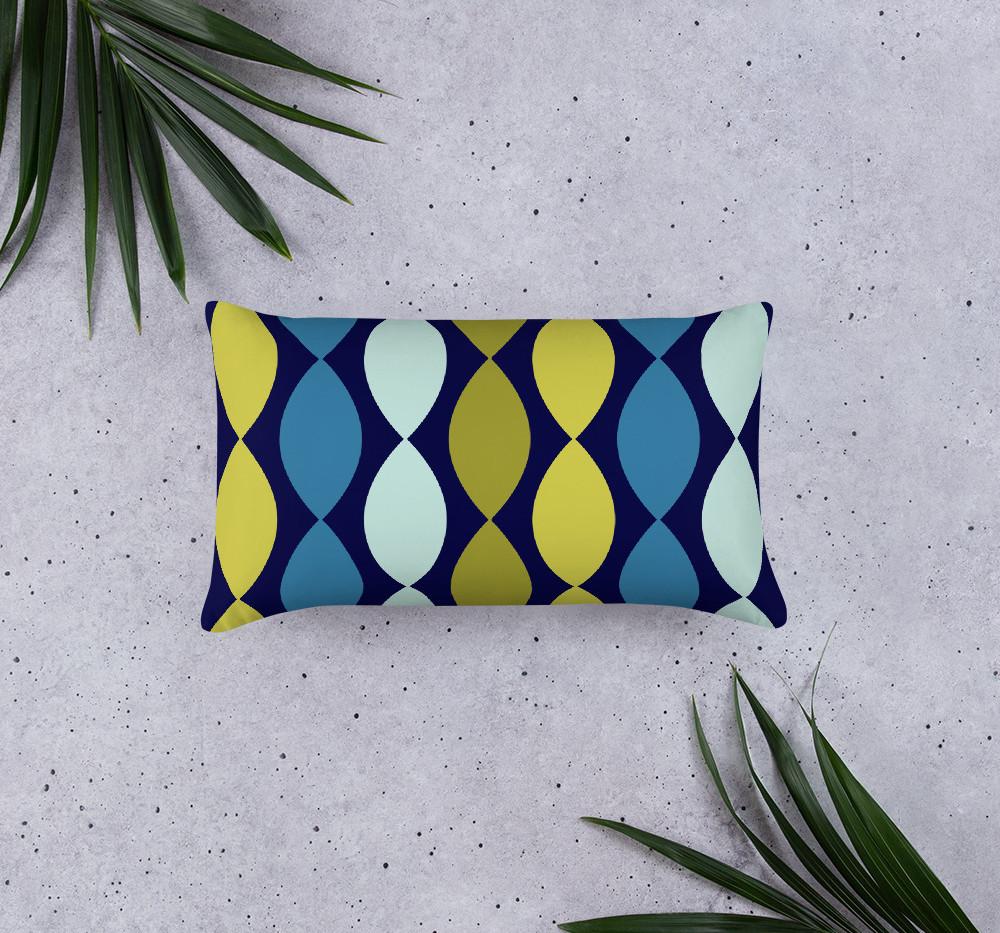 streamer linen feel premium print long pillow $43