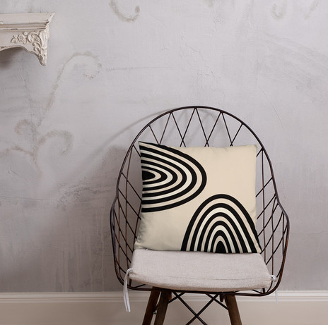 """18"""" arches pillow cover in black and cream $28"""