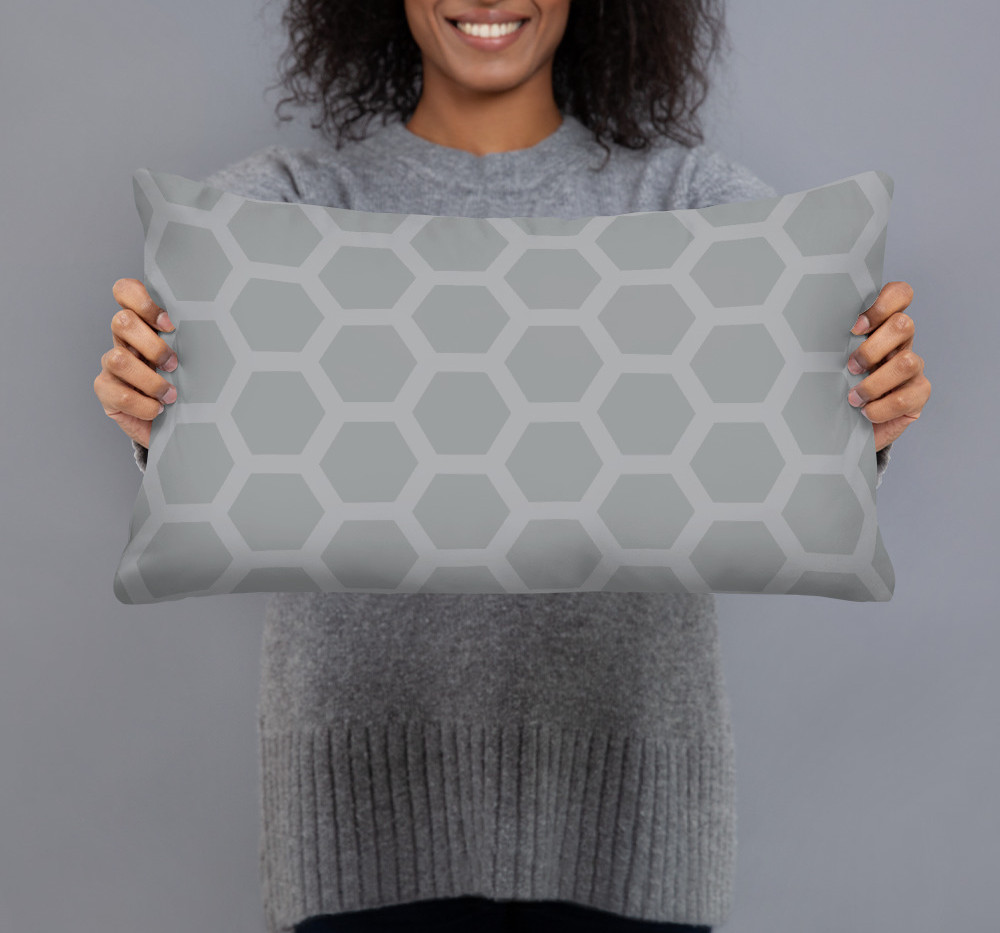 ultimate gray honeycomb pillow cover $27