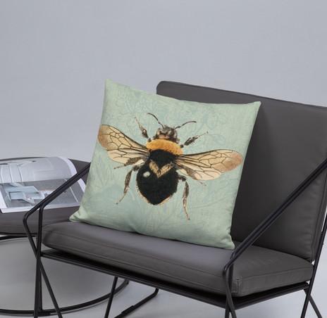 "18"" Queen Bee Pillow Cover $28"