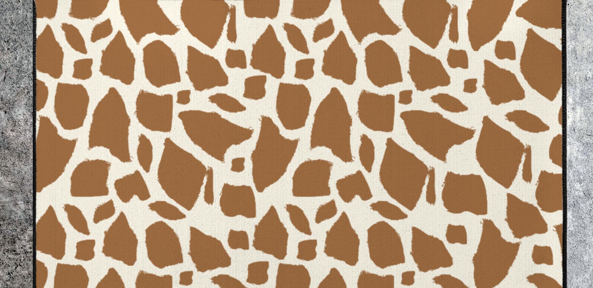 giraffe print rug starting at $35