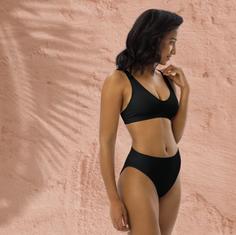 black recycled bikini