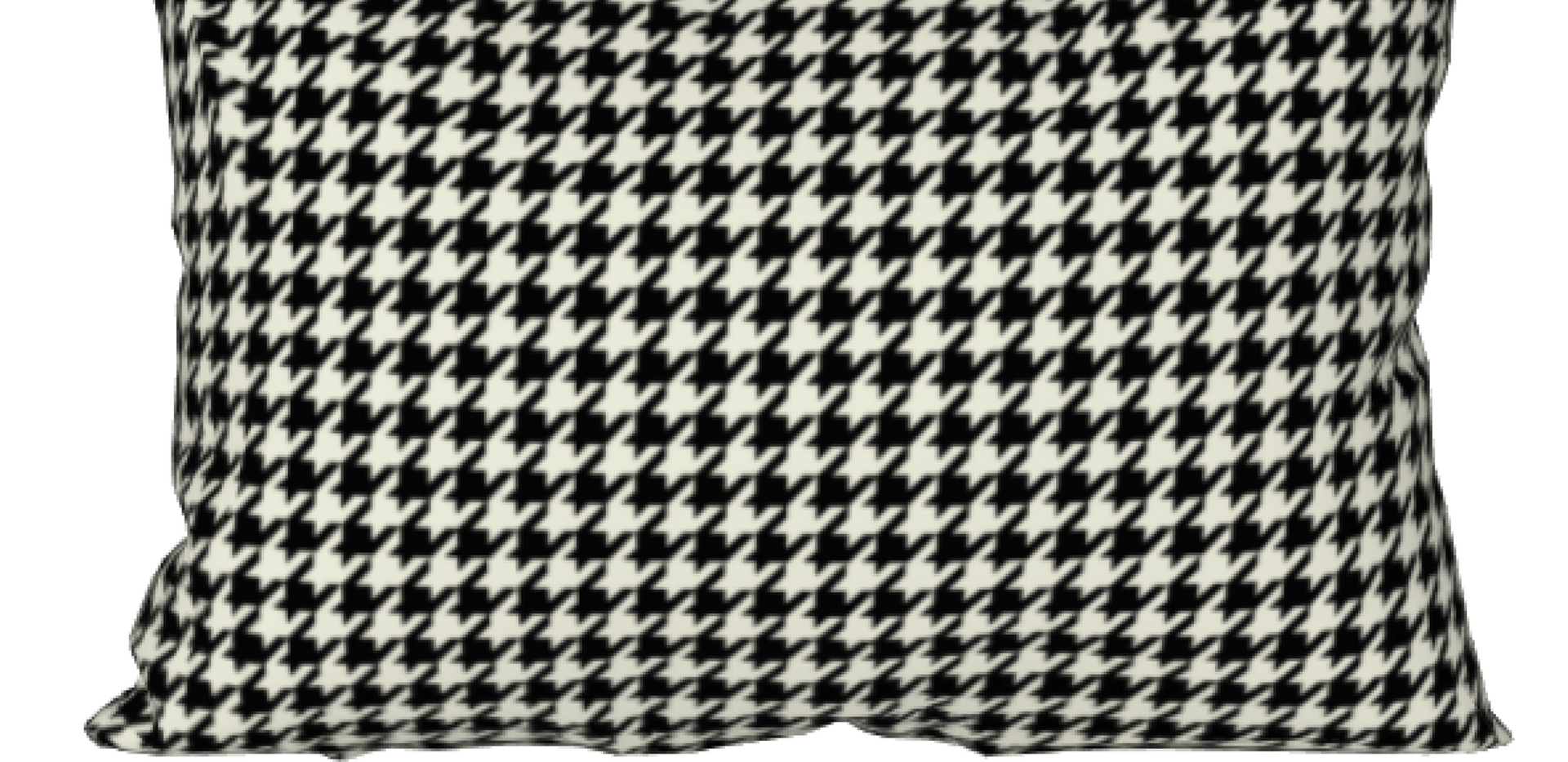 medium houndstooth pillow cover in black and cream $27
