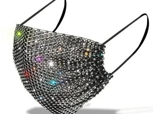 Jeweled Mesh Breathable Designer Face Mask