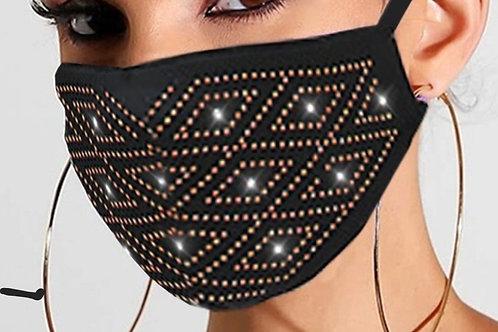 Elegant Designed Diamond Pattern Breathable Face Mask
