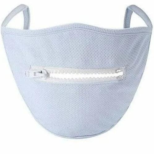 White Mesh Zipper Mask
