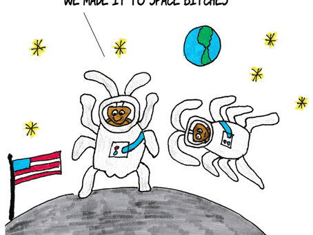 Roaches on the Moon!!