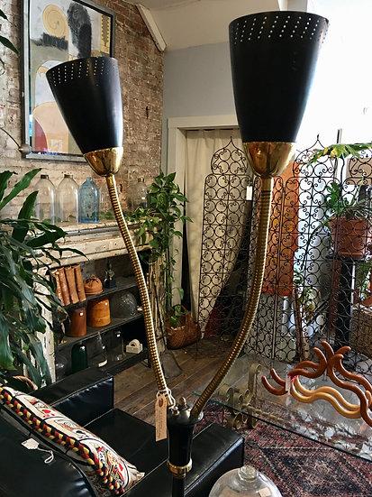 SOLD - Mid-Century Double Gooseneck Lamp