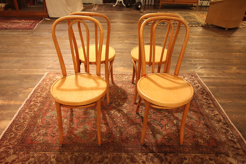 SOLD - Set Four Thonet Dining Chairs