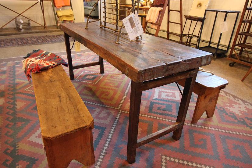 Vintage Hardwood Folding Table