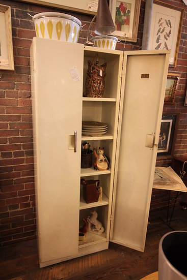 SOLD - Vintage Metal Pantry cabinet