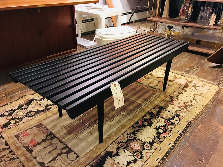 SOLD - Mid-Century Slatted Coffee Table