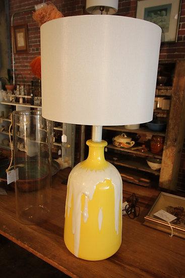 SOLD - Yellow Ceramic Lamp
