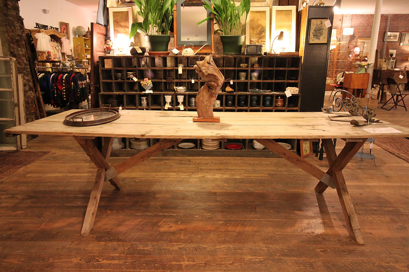 SOLD - Antique Folding Farm Table