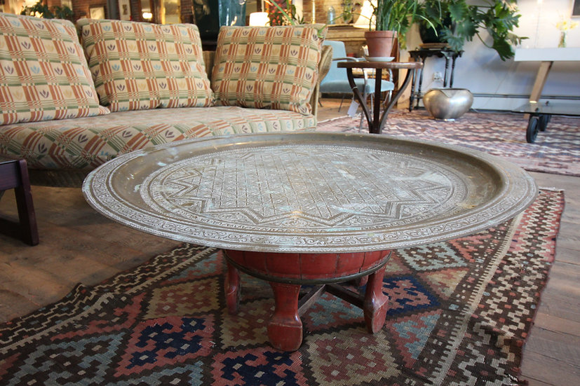 Brass Tray-Top Table