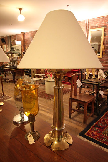 Pair Parzinger Style Brass Lamps (2)