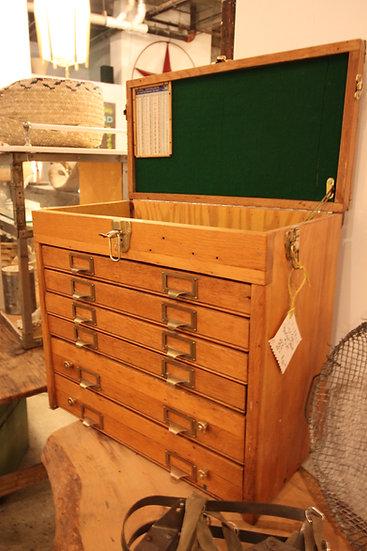 Oak Machinist Cabinet
