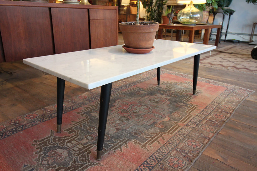 Mid-Century Marble Top Table