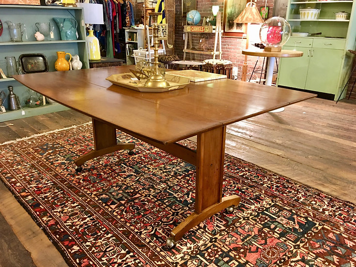 SOLD - Mid-Century Drop Leaf Dining Table