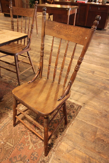 SOLD - Set of Three Farmhouse Chairs