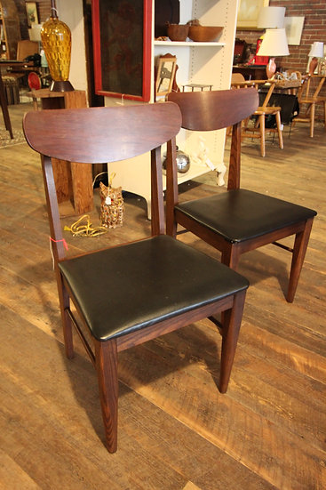 SOLD - Pair Mid-Century Dining Chairs