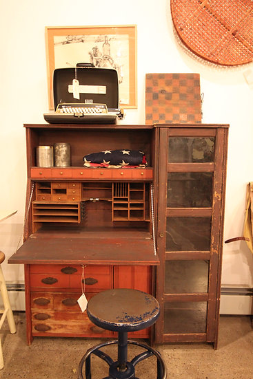 Country Drop-Front Desk/Cabinet