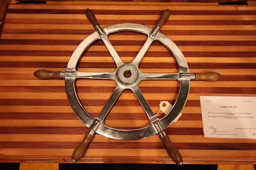 SOLD - Vintage Sailboat Wheel